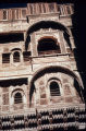 Mehrangarh Fort palace exterior decoration, Jodhpur, Rajasthan, India, ca. 15th century A.D.