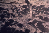 Aerial view of the Qutb Complex, Mehrauli, Delhi, India, ca. 13th century A.D.