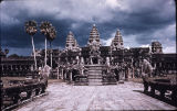Libraries flanking inner causway leading to main temple in Angkor Wat temple complex, Angkor,...