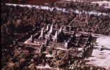 Angkor Wat temple complex, viewed from above, Angkor, Cambodia, ca. 12th century A.D.