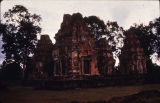 Preah Ko Hindu temple, viewed from southeast, Roluos group, Angkor, Cambodia, ca. 880 A.D.