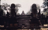 Guardian figures at Banteay Samre temple in Angkor, Cambodia, ca. 12th century A.D.