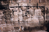 Relief depicting Story of Rudrayana, from first gallery of Borobudur Stupa, Central Java,...