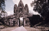 East gate to Angkor Thom, Cambodia, ca. early 13th century A.D.