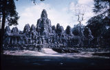 Bayon Khmer temple in Angkor, Cambodia, ca. 12th-13th century A.D.