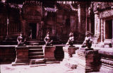 Courtyard with monkey guardians, Banteay Srei temple, Angkor, Cambodia, ca. 10th century A.D.