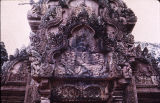 Closeup of tympanium from Banteay Srei south library, Angkor, Cambodia, ca. 10th century A.D.