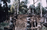 Laterite stairway at Preah Khan temple in Angkor, Cambodia, ca. 12th century A.D.