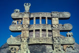 Front view of architraves of East Torana of the Great Stupa, Sanchi, Madhya Pradesh, India, ca....