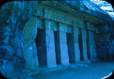 Cave facade, from Buddhist caves near Nasik, Maharashtra, India, ca. 1st century B.C. - 2nd...