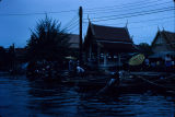 Floating market in Bangkok, Thailand, ca. 1983