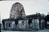 Angle view of Vir Brahma Temple, Alampur, Andhra Pradesh, India, ca. 7th-8th century A.D.