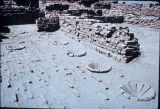 Ruins of a dyer's shop at Mohenjo daro, Indus Valley, ca. 2000 B.C.