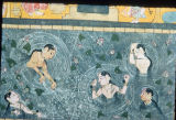 Mughal painting depicting girls bathing, ca. 1615 A.D.