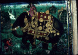 Mughal painting depicting a Deccani elephant rider, ca. 1611 A.D.