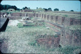 Close up of ruins of Nalanda University, Bihar, India, ca. 10th-11th century A.D.