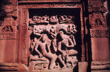Nara-Narayana panel from east wall of Dasavatara Vishnu temple, Deogarh, Bihar, India, ca. 6th...