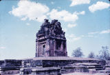 Angle view of Dashavatara Vishnu temple and platform, Deogarh, India, ca. 6th century A.D.