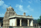 Subshrine in the Great Brihadishwara temple complex, possibly for Ganesha, Tanjore, Tamil Nadu,...