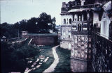Side view of Lahore Fort outer wall, Punjab Pakistan, ca. 16th-17th centuries A.D.