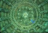Central dome ceiling of Tejpal Temple, Mount Abu, Rajasthan, India, ca. 13th century A.D.
