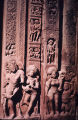 Detail of sculptures from doorway left jamb, Dashavatara Vishnu temple, Deogarh, India, ca. 6th...