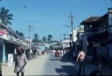 Street view of pilgrim center, Rameshwaram, Tamil Nadu, India