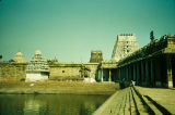 Ekambarnath Temple with sacred pond, Kanchipuram, Tamil Nadu, India, ca. 11th-13th century A.D.