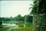Vellore fort with moat, Tamil Nadu, India, ca. 16th-17th century A.D.