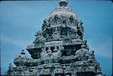 Close up of shikhara top, Kailasanatha temple, Kanchipuram, Tamil Nadu, India, ca. 8th century A.D.