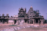 Building in Kailasanatha Temple complex, Kanchipuram, Tamil Nadu, India, ca. 8th century A.D.