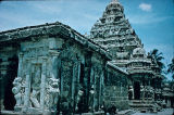 Kailasanatha main temple, Kanchipuram, Tamil Nadu, India, ca. 8th century A.D.
