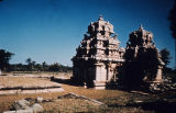 Rear view of Muvar Kovil from northeast, Kodumbalur, Pudukkottai, Tamil Nadu, India, ca. 9th...