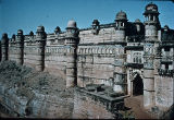 Angle view of Gwalior Fort, Madhya Pradesh, India, ca. 16th century A.D.