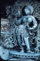 Bracket figure of lady with mirror, possibly a surasundari, Chennakesava Temple complex, Belur,...