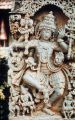 Dancing eight-armed Shiva, holding trident and other objects, Hoysaleswara Temple, Halebid,...