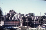 Hathee Singh temple, viewed from outside the walls, Ahmedabad, Gujarat, India, ca. 19th century...