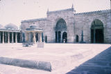 Angle view of Jami Mosque façade, viewed across yard, Cambay, Gujarat, India, ca. 1325 A.D.