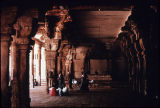 Pillared hall from Vishnu temple, Srirangam, Tamil Nadu, India, ca. 17th century A.D.