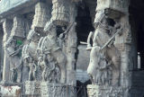Sculptures from Horse Court in Ranganatha (Sri Ranganathaswamy) Temple, Srirangam, Tamil Nadu,...