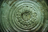Close up of carved dome ceiling, Jami Mosque, Cambay, Gujarat, India, ca. 1325 A.D.