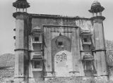 Eastern facade of the unidentified Mughal building near the shikargah, Bairath, Rajasthan, India,...