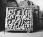 Panel showing Tapashvini Parvati image at the Topkhana Museum in the Chittorgadh Fort,...
