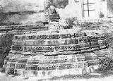 The pithof ruined temple at the Gaumukha Tirthasthala, Chittorgadh, Rajasthan, India, 1965-2000