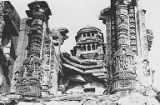 Dwara-sakhas of the ruined Chakraswamin Temple, at the Gaumukha Thirthasthala, Chittorgadh,...