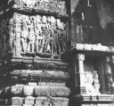 Sculptures and rathikas on the jamghat the Temple of Samadhishwara, Chittorgadh, Rajasthan, India,...