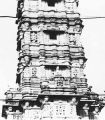 Eastern facade on the third and fourth stories of Kumbha's Kirttistambhin, Chittorgadh, Rajasthan,...