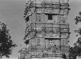 East facade on the third and fourth stories of Kumbha's Kirttistambhin, Chittorgadh, Rajasthan,...