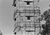 East facade on the third, fourth and fifth stories of Kumbha's Kirttistambhin, Chittorgadh,...