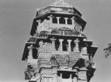 East facade on the eighth and ninth stories of Kumbha's Kirttistambhin, Chittorgadh, Rajasthan,...